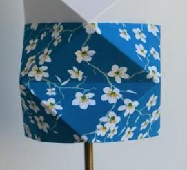 T Tissu motif Bleu Cerisier
